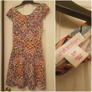 Xhilaration size small multicolored dress